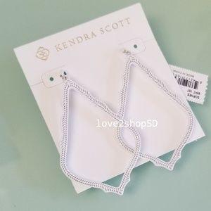 Kendra Scott Sophee Matte Drop Earrings in White